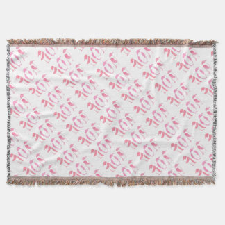 Pink Penguin Trio Throw Blanket