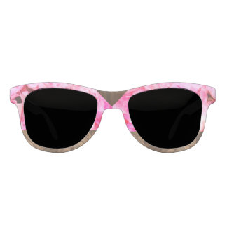 Pink Peonies and Wood Statement Sunglasses