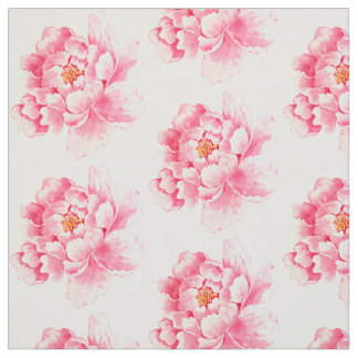 Pink Peonies Floral Fabric