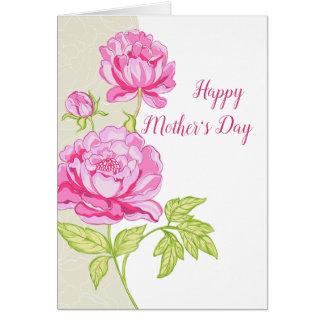 Pink Peonies Floral (Photo) Card