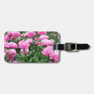 Pink Peonies in Full Bloom Luggage Tag
