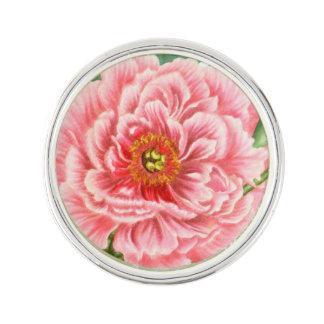 Pink Peonies Lapel Pin