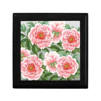 Pink Peonies On Grey Gift Box