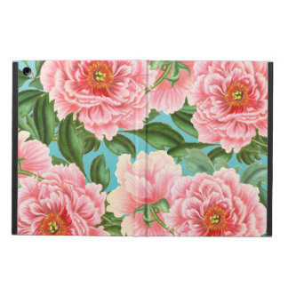 Pink Peonies On Teal iPad Air Cover