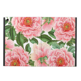 Pink Peonies on White iPad Air Cover