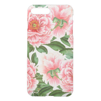Pink Peonies on White iPhone 8 Plus/7 Plus Case