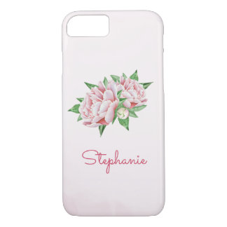 Pink Peonies Pretty Watercolor iPhone 8/7 Case