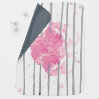 Pink Peony Baby Blanket