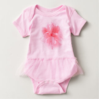 Pink Peony Baby Cover-All/One Piece. Baby Bodysuit