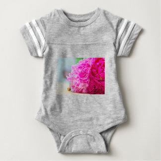 Pink peony beauty baby bodysuit