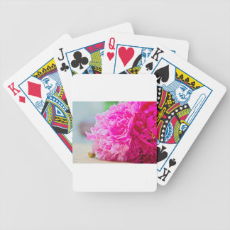 Pink peony beauty bicycle playing cards