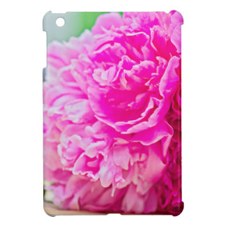 Pink peony beauty iPad mini cover