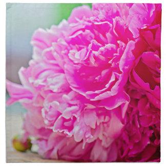 Pink peony beauty napkin
