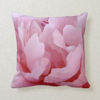 Pink Peony Blossom. Throw Pillow