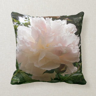 Pink Peony Blossom. Throw Pillow