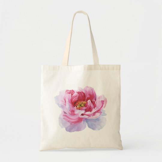 Pink Peony Budget Tote