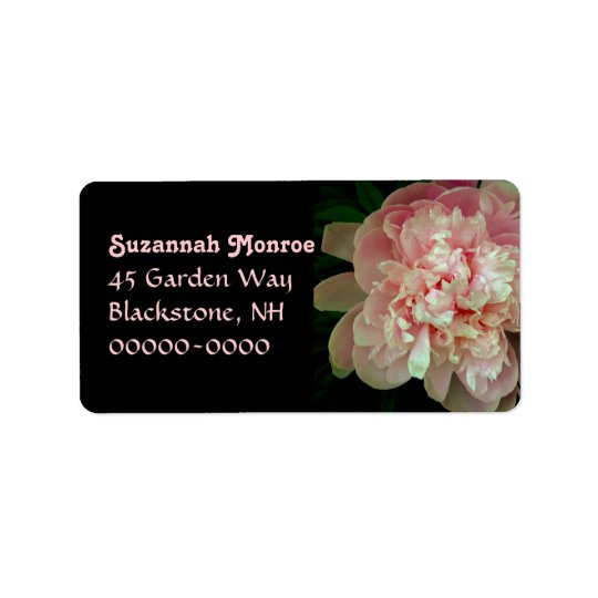 Pink Peony Custom Address Labels