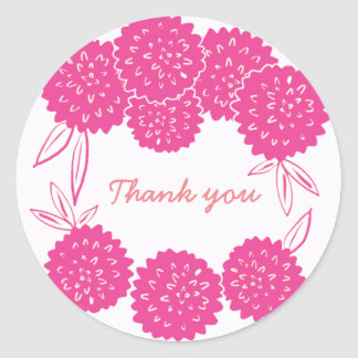 Pink peony custom sticker