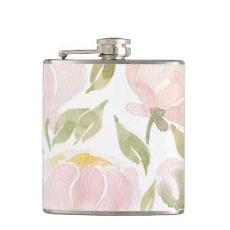 Pink Peony Flask