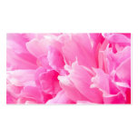 Pink peony flower floral business or profile card business card