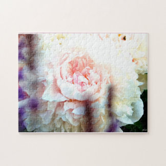 Pink Peony Flower Puzzle