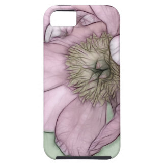 Pink Peony Flower Sketch Case For The iPhone 5