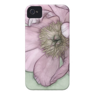 Pink Peony Flower Sketch Case-Mate iPhone 4 Case