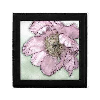 Pink Peony Flower Sketch Gift Box
