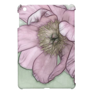 Pink Peony Flower Sketch iPad Mini Case