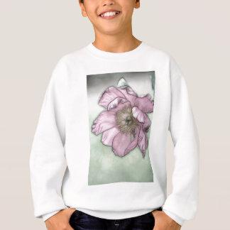 Pink Peony Flower Sketch Sweatshirt