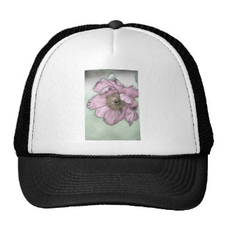 Pink Peony Flower Sketch Trucker Hat