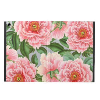 Pink Peony Grey Case For iPad Air