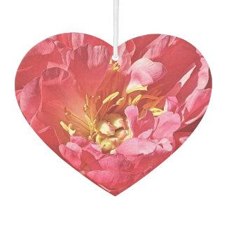 Pink Peony, Heart Air Freshener