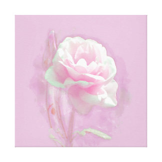 PINK PEONY IN OILS WRAPPED CANVAS