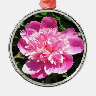 Pink Peony Metal Ornament