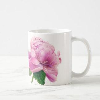 Pink peony on mug