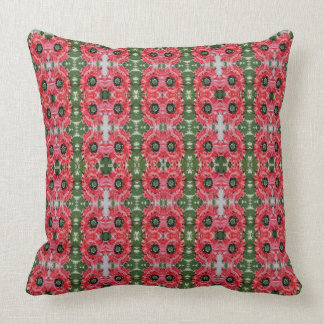 Pink Peony pattern Custom pillow