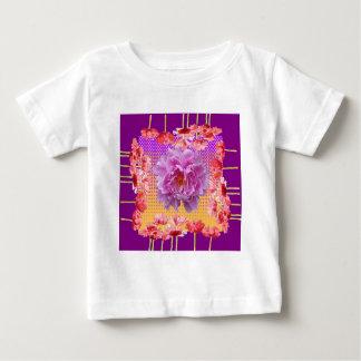 pink peony purple floral art baby T-Shirt
