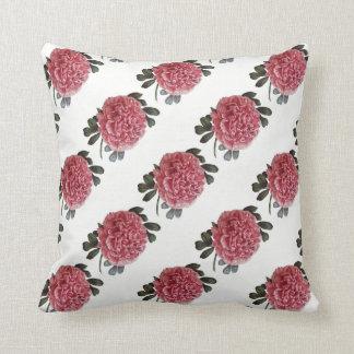 Pink Peony Romantic Throw Pillow