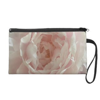 Pink peony rose wristlet