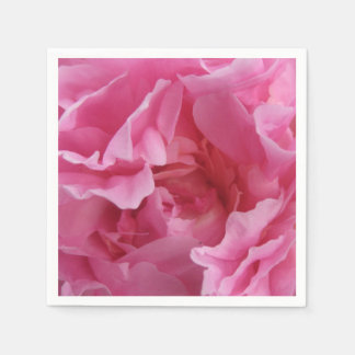 Pink Peony Standard Cocktail Napkins Disposable Napkins