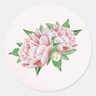 Pink Peony Stickers