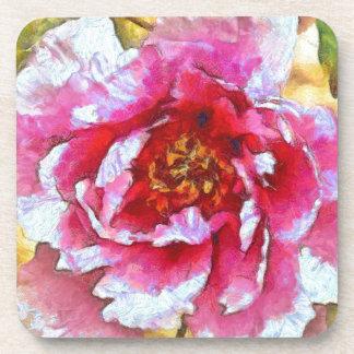 Pink Peony Van Gogh Style Coaster