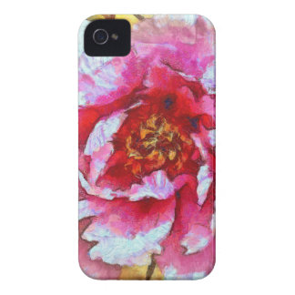 Pink Peony Van Gogh Style iPhone 4 Covers