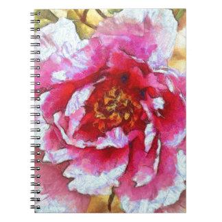 Pink Peony Van Gogh Style Notebook