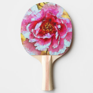 Pink Peony Van Gogh Style Ping Pong Paddle