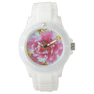 Pink Peony Van Gogh Style Watch