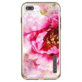 Pink Peony Watercolor Art Incipio DualPro Shine iPhone 8 Plus/7 Plus Case