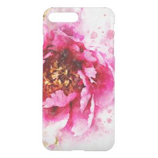 Pink Peony Watercolor Art iPhone 8 Plus/7 Plus Case