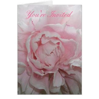 Pink Peony Wedding Invitation Template